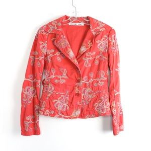 Johnny Was art boho floral embroidered jacket gyps